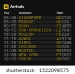 led airport board isolated... | Shutterstock .eps vector #1522098575