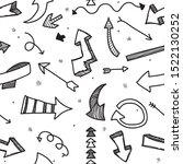 hand drawn black arrows doodle... | Shutterstock .eps vector #1522130252