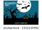 halloween happy party horror... | Shutterstock .eps vector #1522135982