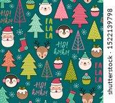 cute cartoon character  pine... | Shutterstock .eps vector #1522139798