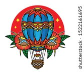 hot air balloon traditional... | Shutterstock .eps vector #1522161695