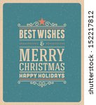 merry christmas postcard... | Shutterstock .eps vector #152217812