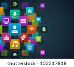 social media infigraphics icons ... | Shutterstock .eps vector #152217818