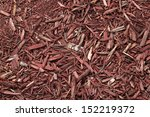 Red Woodchips As Textured...