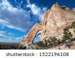 Natural bridge in northern Arizona desert