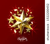 christmas greeting card with... | Shutterstock .eps vector #1522200452