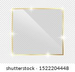 gold shiny glowing frame with... | Shutterstock .eps vector #1522204448