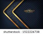 abstract luxury dark background ... | Shutterstock .eps vector #1522226738
