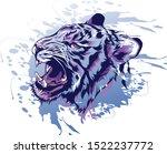 Tiger Head Illustration. Vecto...