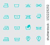 washing icons set | Shutterstock .eps vector #152225252