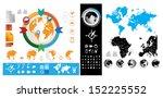 set elements of infographics | Shutterstock .eps vector #152225552