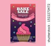 Purple Colored Bake Sale Poster ...