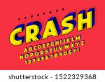 trendy 3d comical font design ... | Shutterstock .eps vector #1522329368