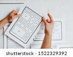 ux website design wireframe....