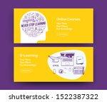 e learning web banners design... | Shutterstock .eps vector #1522387322