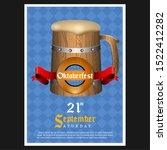 oktoberfest poster with text... | Shutterstock .eps vector #1522412282