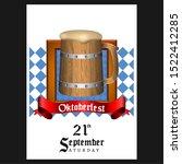 oktoberfest poster with text... | Shutterstock .eps vector #1522412285