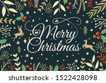 design merry christmas with... | Shutterstock .eps vector #1522428098
