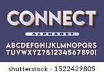 vector alphabet  sans serif... | Shutterstock .eps vector #1522429805