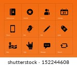 social icons on orange...