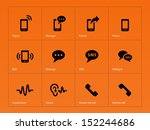 phone icons on orange... | Shutterstock . vector #152244686