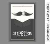 hipster poster illustration.... | Shutterstock .eps vector #1522453568