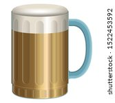 isolated beer glass over a... | Shutterstock .eps vector #1522453592