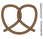 isolated pretzel image over a... | Shutterstock .eps vector #1522453595