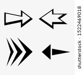 arrows vector collection with... | Shutterstock .eps vector #1522469018