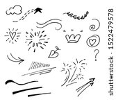 vector hand drawn collection of ... | Shutterstock .eps vector #1522479578