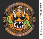 scary halloween pumpkin head... | Shutterstock .eps vector #1522503212