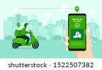 food delivery service by... | Shutterstock .eps vector #1522507382