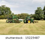 Tractor And Baling Machine...