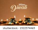 Stock photo tortoise diya lit during diwali celebration diwali lamps happy diwali 1522574465