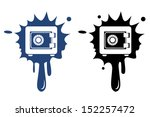 metal safe blue and black icon. ... | Shutterstock .eps vector #152257472