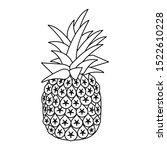 pineapple fruit icon over white ... | Shutterstock .eps vector #1522610228