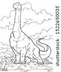 Outline Brontosaurus Dinosaur...