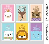 quotes cute animals cards design | Shutterstock .eps vector #1522653035
