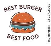 flat burger vector illustration.... | Shutterstock .eps vector #1522715012
