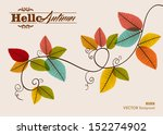 hello autumn text tree branches ... | Shutterstock .eps vector #152274902