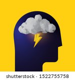depression. panic attack. bad... | Shutterstock .eps vector #1522755758