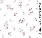 christmas berry pattern... | Shutterstock .eps vector #1522757738