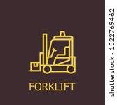 outline forklift vector icon.... | Shutterstock .eps vector #1522769462