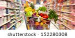 Full Shopping Grocery Cart In...