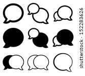 talk bubble icon set | Shutterstock .eps vector #152283626