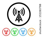 cell phone tower icon | Shutterstock .eps vector #152283788