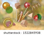 3d rendering autumn abstract... | Shutterstock . vector #1522845938