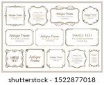 vintage vector set. floral... | Shutterstock .eps vector #1522877018