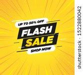 special offer flash sale banner ... | Shutterstock .eps vector #1522880042