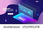isometric concept of smart data ... | Shutterstock . vector #1522901378